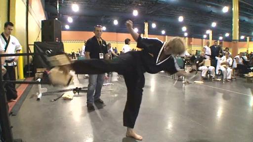 Cheryl Cleveland's record breaking board break